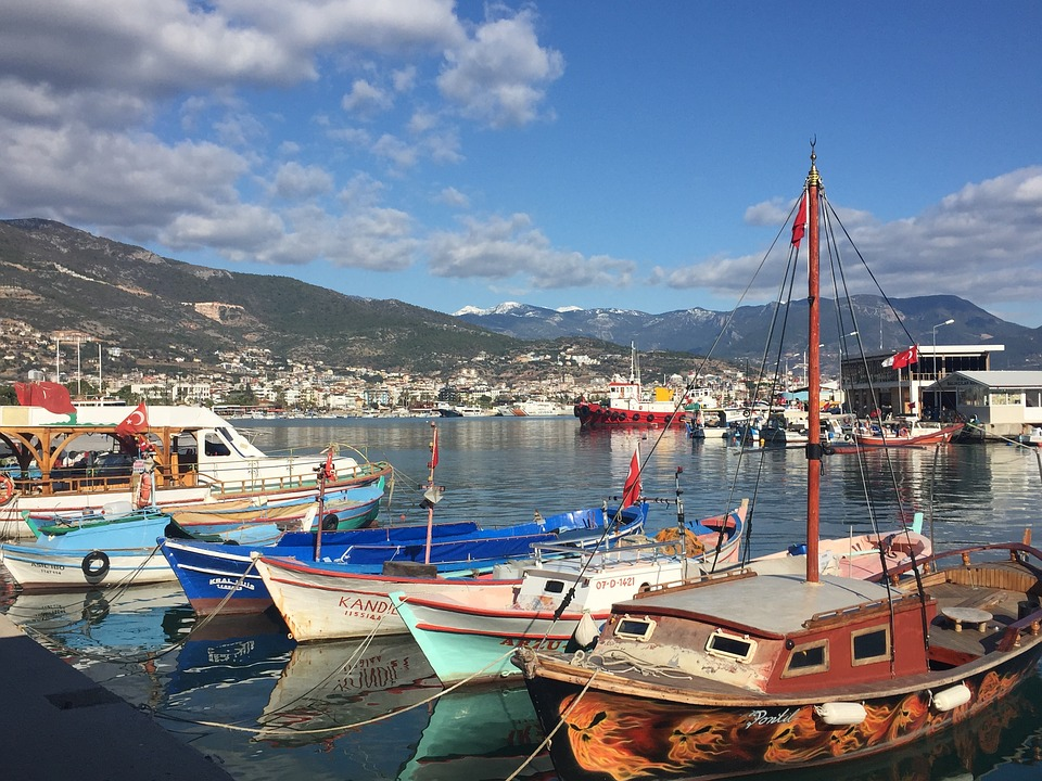 De haven van Alanya